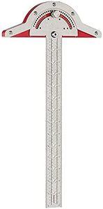 Winkelmesser Metall, 20 Zoll Holzarbeiter Kantenlineal 0 - 70 Grad Winkelmessgeräte Lineal Messwerkzeug Geschenk für Vatertag