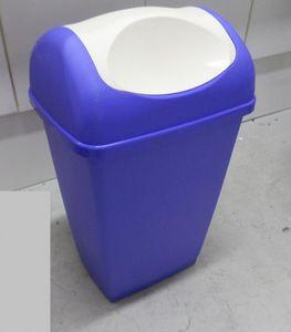 Testrut 235686 Schwingdeckeleimer 50 Liter (blau) lila, creme