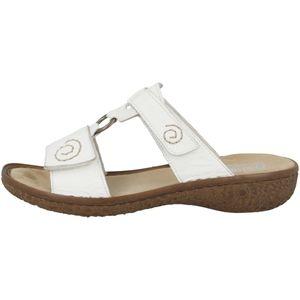Rieker V69N2 Damen Schuhe Pantoletten Clogs, Größe:41 EU, Farbe:Weiß