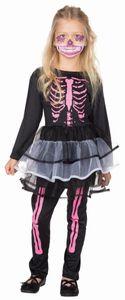 Kinder Skelett Kleid mit Skelett Leggings / Größe 116