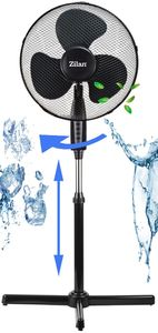 Zilan Standventilator   Ventilator   Luftkühler   Windmaschine   Ø 41 cm   40 Watt