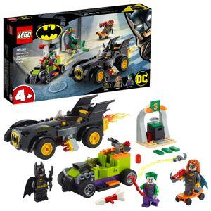 LEGO 76180 DC Batman vs. Joker: Verfolgungsjagd im Batmobil, Set mit Autos und Superhelden für Kinder ab 4 Jahre