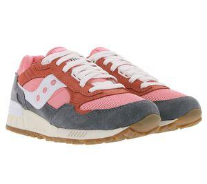 Saucony Shadow 5000 Vintage Sneaker stilvolle Damen City-Schuhe im Retro-Look Rosa/Grau, Größe:36