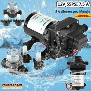 55 PSI 12V Hochdruck Selbstansaugende Pumpe Wasserpumpe Gartenpumpe Für Wohnmobile Hauswasserwerk 3 Gallonen RV 16 AWG