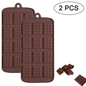 Pndwfr Silikonform mit 12 Schokotafeln,Schokoladenform Tafel, Chocolate Mold, Deko für Bonbon, Praline, Hundeleckerli, Süßigkeiten,  Kuchen, Geschenkidee