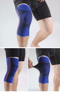 Orthopädische Kniegelenkbandage Größe M blau KnieSchutz Bandage Neopren elastisch schweißabsorbierend  atmungsaktives Gewebe