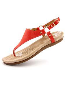 Damen Hausschuhe Mit Flacher Schnalle Einfarbige Hausschuhe Mit Offenem Zehenhalfter Leichte Sandalen,Farbe: Rot,Größe:39