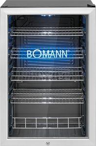 Bomann Glastür-Kühlschrank  KSG 7284.1 schwarz 115 Liter  LED Innenraumbeleuchtung und eingraviertes Bomann Logo mit blauer LED Beleuchtung