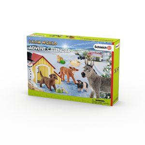 Schleich - Tierfiguren, Adventskalender Farm World 2017; 97448