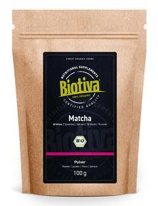 Biotiva Matcha Tee 100g aus biologischem Anbau