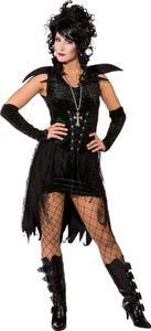 Dunkle Fee-Kleid mit Handschuhe, Größe:42/44