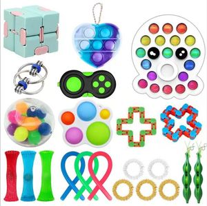 22X Pop It Fidget Toy Set Autismus SEN ADHS Fidget Stressabbau Spielzeug
