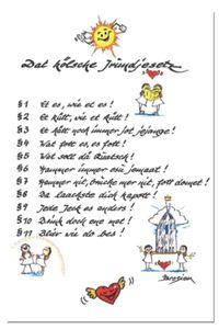 Grußkarte Kölner Grundgesetz Postkarte Engel Dom Klappkarte kölsche Jrundjesetz