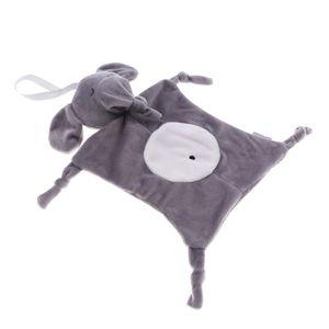 Baby Schmusetuch Schnuffeltuch Kleinkind Plüschtier Kuscheltuch Greifspielzeug Kleinkindspielzeug Greiflinge Kinderwagen Spielzeug wie beschrieben Stil 1-Elefant