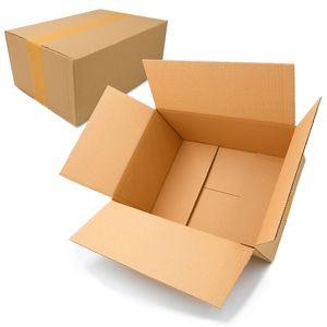 Falt- /Versandkartons | Kartonage | Karton | Versandmaterial | Verpackung Einwellig KK-50 (320 x 250 x 120 mm) 10 Stück