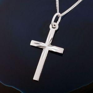 Kreuz Kette Silber Konfirmation