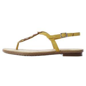 Rieker Damen Zehentrenner Gelb, Schuhgröße:EUR 43
