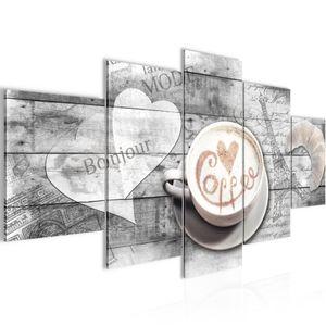 Kaffee Küche BILD :200x100 cm − FOTOGRAFIE AUF VLIES LEINWANDBILD XXL DEKORATION WANDBILDER MODERN KUNSTDRUCK MEHRTEILIG 012851c
