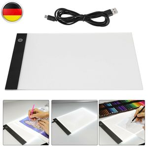 Ultradünne A4 LED Licht Box Schreiben Malerei Tracing Board Copy Pad Panel Zeichnung Tablet Sketch Boards Art Artcraft Schablone Leuchttisch Leuchtkasten Leuchtplatte zum Zeichnen