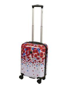 Saxoline Kinder Handgepäck Reise Koffer Trolley Blume Rot Bunt 55 klein Bowatex
