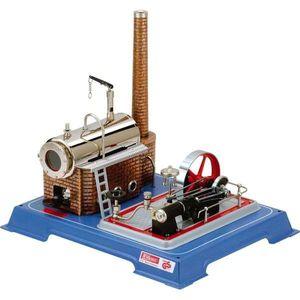 Wilesco Dampfmaschine D16, Dampfmaschinenmodell, Vormontiert, Blau, Messing, Rot, Transparent, Messing, Poliert, Chrom