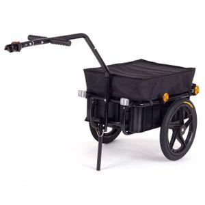 SAMAX Lastenanhänger / Fahrradanhänger für 60 Kg / 70 Liter in Schwarz
