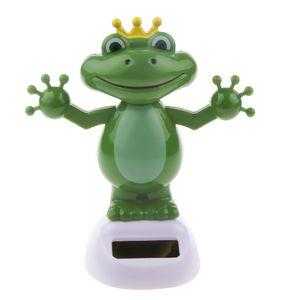 Solarfigur Frosch Puppe  Solar Wackelfigur Tanzend Dekofiguren
