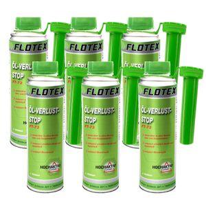 Flotex Öl Verlust Stopp, 6 x 250ml Additiv reduziert Ölverlust, Dichtmittel Ölleck am Motor