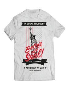 Better Call Saul-T-Shirt Breaking Bad weiss-schwarz-rot