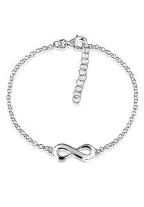 Nenalina Armband Infinity Symbol Unendlichkeits-Zeichen 925 Silber Silber