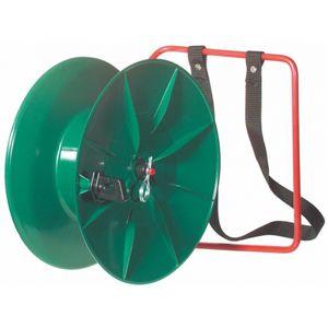 Kunststoff Breitbandhaspel mit Rückentrage für ca. 1000 m Litze