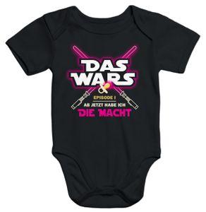 Baby Body Das Wars ab jetzt habe ich die Macht Moonworks® schwarz 0-3 Monate
