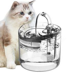 1.8L Haustier Wasserspender Trinkbrunnen Trinknapf Haustier Automatisch Wasserspender für Katzen Hunde mit Filter