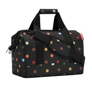 reisenthel allrounder M dots - Reisetasche Tasche Schultertasche Schwarz Punkte - Dots