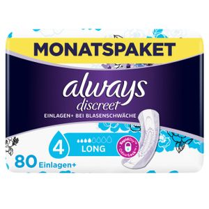 always Discreet Inkontinenz Long Monatspack mit 80 Stück