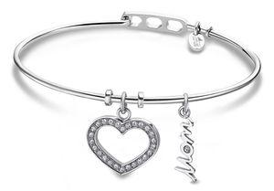 Damen Armband Armreif Edelstahl Lotus Style LS2036-2/2 Strass Herz
