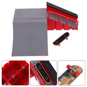 1 Set Professionelles Skatepark Kit Finger Skateboard Modell Spielzeug Feldset