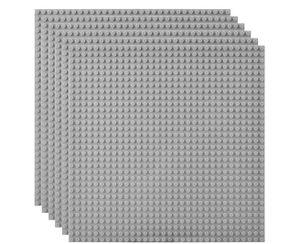 6 Platten-Set Bauplatte Kompatibel mit Meisten Marken, 25*25cm, Graue Grundplatte