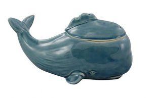 Deckeldose, Vorratsdose Wal, maritime Keramik Dose, Keks Dose Pottwal