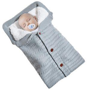 Baby Decke Schlafsack Einschlagdecke Wickeldecke Baby Swaddle Sleeping Bag Grau