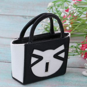 1 Stück 12-Zoll-Puppenhandtasche , Farbe Schwarz