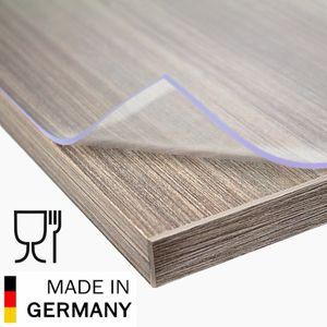 Aylo PVC Tischfolie 2 mm Matt Tischdecke Tischschutz Tischmatte Größen wählbar, Länge:140 cm, Breite:90 cm