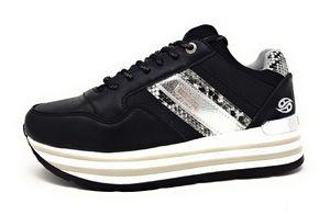 Dockers by Gerli Damen Sneaker in Schwarz, Größe 36