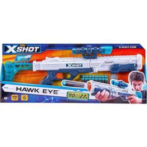 Zuru X-Shot Excel Hawk Eye mit Zielfernrohr inkl. 16 Darts Blaster Gewehr Softdarts