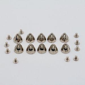10 Pcs Spike Nieten Metallnieten Jeansnieten Hohlnieten Schrauben Nieten für Dekoration