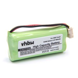 vhbw NiMH Akku 800mAh (2.4V) passend für Baby Phone, Baby Monitor V-Tech DM221, DM222