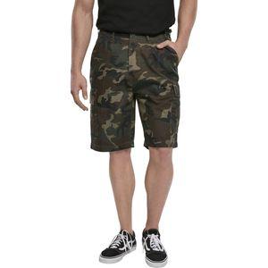 Brandit - BDU Ripstop shorts 2019-10 Woodland kurze Hose Cargo Army Militär Freizeit Festival Größe XL