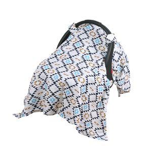 Baby Kinderwagen Abdeckung winddicht Sonnenschutz Sonnencreme Decke blau 130x110cm Autositzüberzug Blaue Geometrie