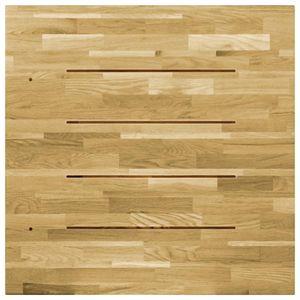 vidaXL Tischplatte Eichenholz Massiv Quadratisch 23 mm 70x70 cm