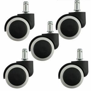 5 Stück 50 mm Stuhlrollen Stift Hartbodenrollen Rollen für Bürostuhl Hartbodenrollen Bürostuhlrollen
